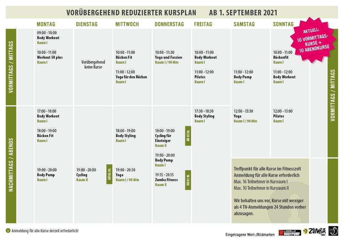 Kursplan vom ESSENSIO in Erkrath bei Düsseldorf
